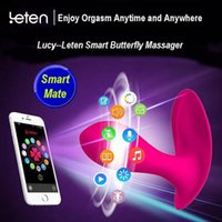 Wholesale Strap Ons Vibrator - Leten CLOVER Lucy Smart APP Control Multi-function 10 Modes Silicone Waterproof Strap-ons Vibrators Adult Products for Women