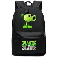 bitkiler vs zombiler sırt çantaları toptan satış-Peashooter sırt çantası Bitkiler vs zombies gün paketi Bezelye atıcı okul çantası Oyun packsack Kaliteli sırt çantası Spor schoolbag Açık sırt çantası