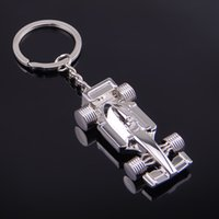 Wholesale 3d Alloy Key Chains Wholesale - 3D F1 Racing Car Keychain Zinc Alloy Cool Keyring Key Ring Keyfob Key Holder Car Keychains Sports Key Chain keychain2016