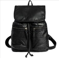 Wholesale Holiday Backpacks - New Leather Backpack Bag for traveling working holiday Shoulder Bag PU Material 30cm x 28cm Moive star Style High Capacities
