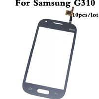 Wholesale Galaxy S Ace - 10pcs lot Touch Screen Digitizer Lens Glass For Samsung Galaxy Ace Style G310 SM-G310 Black  White Free Shipping