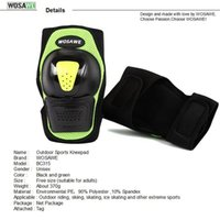 Adjustable Shock Absorption Knee Protector Material PE e Espuma Magic Stick Crashproof respirável Unisex joelho Pads com elástico Fabri
