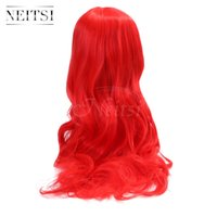 Wholsale Neitsi 1PC 22inch Rosso # lunghi ondulati Parrucca ondulata Parrucca Parrucca sintetica per le donne di moda Gril Cosplay Halloween Halloween Amine Party