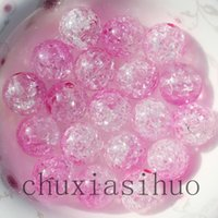 12mm Sparking Crackle Acrílico Smooth Round Beads cores duplas 300PCS