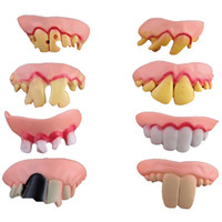 Wholesale Denture Funny - Hot Selling Funny Goofy Fake Vampire Denture Teeth Halloween Decoration Props Trick Toy