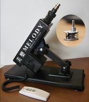 Wholesale Sex Toy Golden Gun Cannon - sex toy golden gun cannon machine masturbation machine for female machine gun + dido + power H1101