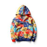 Wholesale Brocade Men - 2016 Autumn Winter Chinese Style Men Women Figure Brocade Printing Hoodies Loves Space Cotton Fleece Casual Sweater Coats