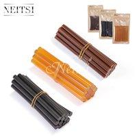 Wholesale Hot Hair Gun - Hot Sell 7.8mm*100mm Neitsi Set of 12 Professional Hair Extensions Keratin Gun Bond Glue Sticks Black Brown Yelllow Color Available