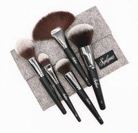 ingrosso qualità compongono spazzole-Sylyne Makeup Brushes 5pcs Pennello professionale di alta qualità Set Blending Face Make Up Pennelli Kit Strumenti Pennello cosmetico