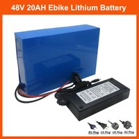 Wholesale Charger Lithium - 48V 1000W battery 48V Electric Bike battery 48V 20AH Lithium ion battery pack with PVC Case 30A BMS 54.6V 2A charger
