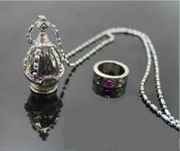 Wholesale Madoka Soul Gem - New Puella Magi Madoka Magica Akemi Homura Cosplay Soul Gem Necklace Ring set