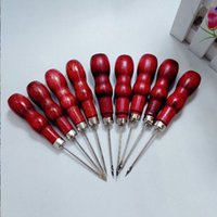 Wholesale Hook Assembly - Wholesale gourd-shaped hook awl straight single cone drill wooden gourd \ wooden handle awl \ positioning drill diamond shoes