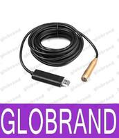 Wholesale Inspection Camera 15m - NEW 15M USB Snake Scope Inspection Camera Endoscope Borescope 4 LED Waterproof FREE SHIPPING GLO736