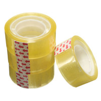 Wholesale Wholesale Clear Tape - Wholesale-5PCS Useful 18mm Width Clear Transparent Tape Sealing Sticky Tape Rolls Home Office Packing Supplies School Stationery
