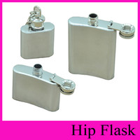 Wholesale Mini Flask 1oz - 2016 HOT Search Hip Flasks 1oz 2oz 3.5oz Stainless Steel Hip Flask Portable Flagon 1 2 3 Ounce Outdoor Whisky Stoup Wine Pot Alcohol Bottles