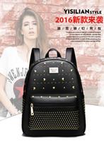 Wholesale Crocodile Embossed Handbags - 2016 new wave of Korean women shoulder bag backpack College Wind handbag PU leather fashion lady bags schoolbags