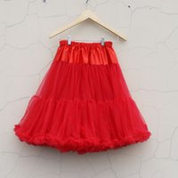 Wholesale Pettiskirt High Quality - Mix sizes High quality Chiffon Adult Pettiskirt Womens The Party TuTu Skirts Soft Tulle Ladies Petticoat