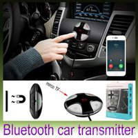 Wholesale Iphone Car Stereo Transmitter - Bluetooth Car Kit MP3 Player Audio Wireless FM Transmitter USB Support SD Tf Card LCD Display Car Charger For iPhone 5 6S Samsung