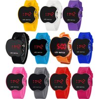 Wholesale Plastic Steel Design - LED Touch Screen Watch Apple Design Watches For Mens Women LED Sports Watches Silicone Digital Watch Mens LED Watches Quartz Wristwatch