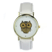 Wholesale Cartoon Watches For Women - 2015 New Fashion Cartoon Owl Style Dress Gold Watch Women Clock Casual Wrist Watch Quartz Watches For Women Mens Gift