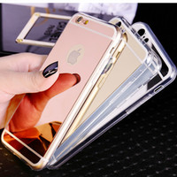 Wholesale Note Chrome Case - Mirror case Electroplating Chrome Ultrathin Soft TPU Phone Case Cover For Samsung Galaxy S6 S7 note 4 5 iphone 5 6 6plus