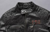 Wholesale Redskins new men genuine leather jackets vintage sports leather jackets motorcycle jackets