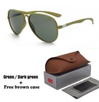 caja cuadrada de espejo al por mayor-Al por mayor - Riving Mirrored Square Retro Gafas de sol Moda para mujer para hombre Gafas de sol UV400 Goggle con estuches y estuche