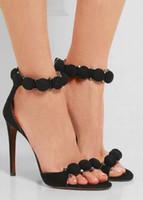 Wholesale Kardashian Shoes - 2016 Kim Kardashian High heel Sandals Suede T-Strap Woman Gladiator Sandals Sexy Summer Lady Party Shoes