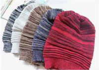 Wholesale korean men wool hat for sale - Group buy 50PCS Korean version beanie popular folding cap winter hat fashion men and women knitting wool cap A035