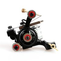 Wholesale art iron handmade for sale - Group buy NEW Beautiful Handmade Mini Gearwheel Tattoo Machine Shader Wrap Coils Supplies tattoo body art TM8394