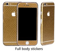 Wholesale Iphone Back 4s Style - Fashion Snake skin style Full Cover Stickers Decal Screen Protector for iphone7 7plus 6 6s plus 5S SE 5C 4S Front + Back Skins