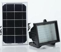 proyector solar led al por mayor-Luz solar solar lámpara proyector de luz patio exterior hogar súper brillante 60LED luz de inundación