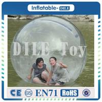 Wholesale Zorb Water Balls - Free Shipping 0.8mm TPU 2.0m Dia Inflatable Water Walking Ball Water balloon Zorb Ball Walking On Water Walk Ball