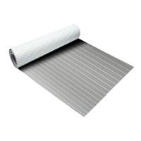 decks para barcos venda por atacado-EVA Foam pad pad Faux Teak Folha Barco Iate Teak Decking Cinza Com Linhas Brancas