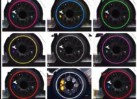 Wholesale Ford Car Rims - 8m car styling Tire Tyre Rim care protector Hub Wheel Stickers strip for BMW volkswagen VW Opel Toyota Audi Ford car accessories