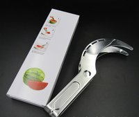 Wholesale Kitchen Gadgets Prices - Factory Price Watermelon Slicer Corer Stainless Steel Fruit Peeler ,Watermelon Slicer Corer & Server Knife With Kitchen Gadget