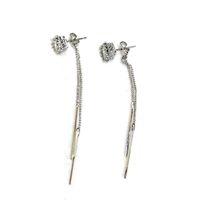 Wholesale Dangle Diamond Cross Earrings - 5 Pieces Ladies Long Tassel Earrings Silver Color Diamond Pendant Earrings Creative Ear Jewelry Mama Christmas Present