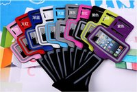 Wholesale Sport Armband Iphone4 - Sports ArmBand leather Jogging Running Gym Case Solf Belt Arm Band For Apple iphone 4 iphone4 4s 5 5C 5S 5G iphone 5 epacket free