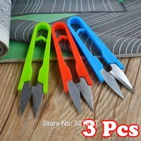 Wholesale Portable Shear - Wholesale-Cutter Scissors Shears New Portable Embroidery Sewing Tool Snips Thrum Thread Nippers Mini V Shape ( 3Pcs)