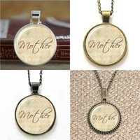 Wholesale Necklace Ideas - 10pcs Mothers Day gift Idea ifts For Mom inspired Necklace keyring bookmark cufflink earring bracelet