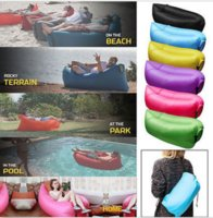 Wholesale Easy to use inflate in seconds comfortable Fast Lazy Hangout Inflatable Air Bag Camping Holiday Travel Beach Sleeping Bed