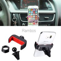Universal Adjustable 360 ​​Degree Car Air Vent Clip Holder Cradle Mount Kit para Samsung Galaxy S7 S6 borda