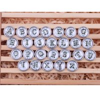 Wholesale Acrylic Charm Beads - noosa buttons Pendant Bracelet 18mm 26 letters Snap button buttoned ginger shoot total letters A to S Valentine's Day present AC307