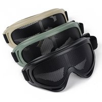 Wholesale Metal Mesh Airsoft Goggle - Outdoor Airsoft Tactical Eye Protection Metal Mesh Pinhole Glasses Goggle 3Color