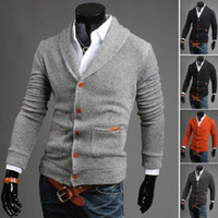 Wholesale Army Computer - 2017 Fashion Men's sweater cardigan sweater V-neck knitting outerwear sweaters casual double-breasted boutique male Sweaters WY04 RF