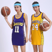 Wholesale Women S Clothing Models - 16 female models Lakers basketball clothing basketball baby dress Yi Jianlian 11 24 Bryant basketball casual clothes
