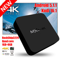 Wholesale Smart Android Box Quad Core - Smart Rockchip RK3229 MXQ-4k TV Box Android 5.1 KODI 16.1 Fully Loaded H.265 4K 60tps 1080P HD Streaming Media Player TV Boxes Remoted MXQ