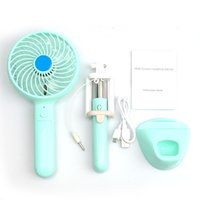 C16 Banco di alimentazione multifunzionale portatile + Mini fan USB + Supporto stand di telefono + Stick selfie 4 in 1 18650 Batteria interna