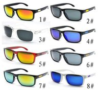 Wholesale Sun Wind Glasses - summer MEN UV400 sun glasses HOLBROOK cycling glasses women Outdoor Wind eye protector sunglasses cycling glasses 16colors free shipping