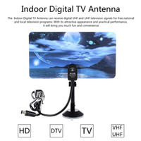 Wholesale Dvb T Aerial Antenna - w16PH08 Indoor Digital TV Antenna 35dBi High Gain Full HD 1080p VHF   UHF DVB-T-Aerial IEC Connector for DTV   TV